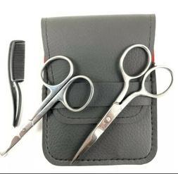 1 set beard mustache nose ear scissors
