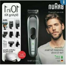 Braun 10-in-1 Beard Trimmer for Men, Body Grooming Kit & Hai