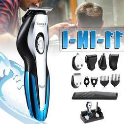 11-In-1 Men Electric Hair Clipper Trimmer Shaver Kit Recharg