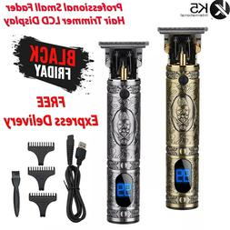 11PCS Men's USB Electric Hair Clippers Trimmer Beard Shaver