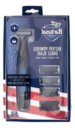 1X Barbasol Battery Powered Wet & Dry Use Single Blade Beard