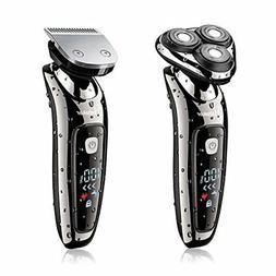 hatteker 2 in 1 Electric Shaver Men's Rechargeable · AC