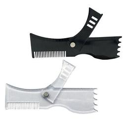 2 Pack Beard Shaping Tool Template Goatee Liner Guide Trimme