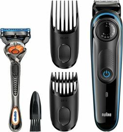 Braun - 3040 Wet/Dry Beard Trimmer with 2 Guide Combs