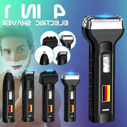 4 in 1 Men Rechargeable Hair Face Ear Nose Trimmer Beard Cli