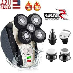 4D 5 IN 1 Rotary Electric Shaver Rechargeable Bald Head Shav