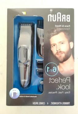 Braun 5513 Face & Head Trimming Kit 6 in 1 trimmer Ear Nose