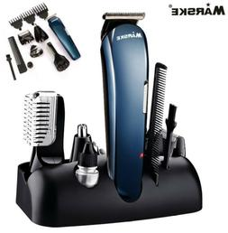 6 in 1 RECHARGEABLE BEARD MUSTACHE TRIMMER Ear Nose Hair Cli