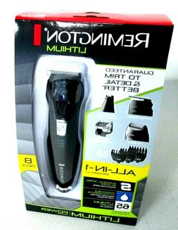 Remington All-in-1 Lithium Powered Grooming Kit, Trimmer 8 P