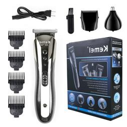 KEMEI All in 1 Rechargeable Hair Clippers Hair Cutting Beard