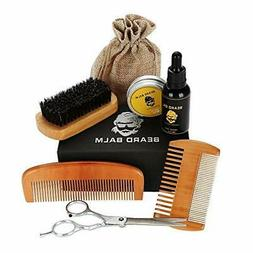 Beard Conditioner & Trimmers Kit with Beard Oils, Comb,