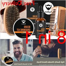 Beard Growth Grooming Trimming Kit Conditioner Oil Balm wax