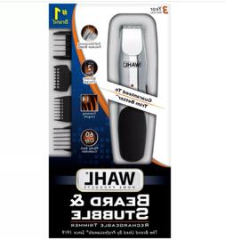Wahl Beard Trimmer Rechargeable Stubble to Full Beard Mustac