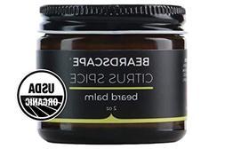 Beardscape Citrus Spice Beard Balm | USDA Organic, 2oz | Tam