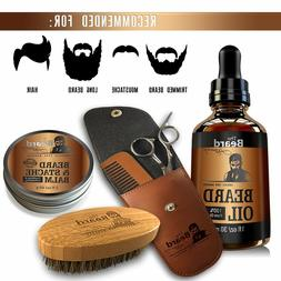 COMPLETE Beard Grooming Kit W/Pouch and Luxury Gift Box, Sta