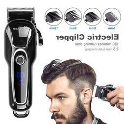 Cordless Electric Hair Clipper Men Pro Trimmer Cutting Machi