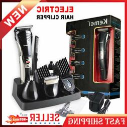 Electric Hair Trimmers Rechargeable Clipper Shaver Beard Tri