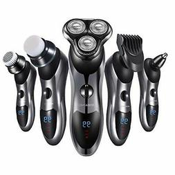 Electric Shaver Razor for Men 5 in 1 Rotary Shavers Beard Tr