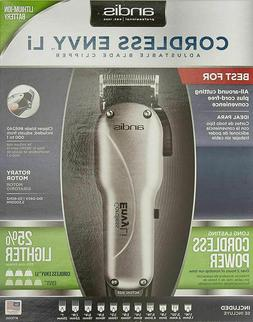 Andis Envy Li Cordless Adjustable Blade Hair Clipper w/ 9 At