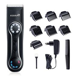 SURKER Professional Men's Hair Trimmer Electric Men Hair Cli