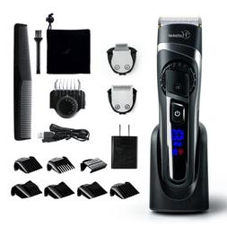 Hatteker Hair Clipper Cordless Rechargeable Trimmer Shaver A