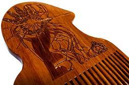 Iron Man Beard Comb Wooden - Beard Gains