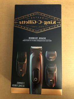 King C Gillette Beard Trimmer 3 Comb 1 Brush Powered by Brau