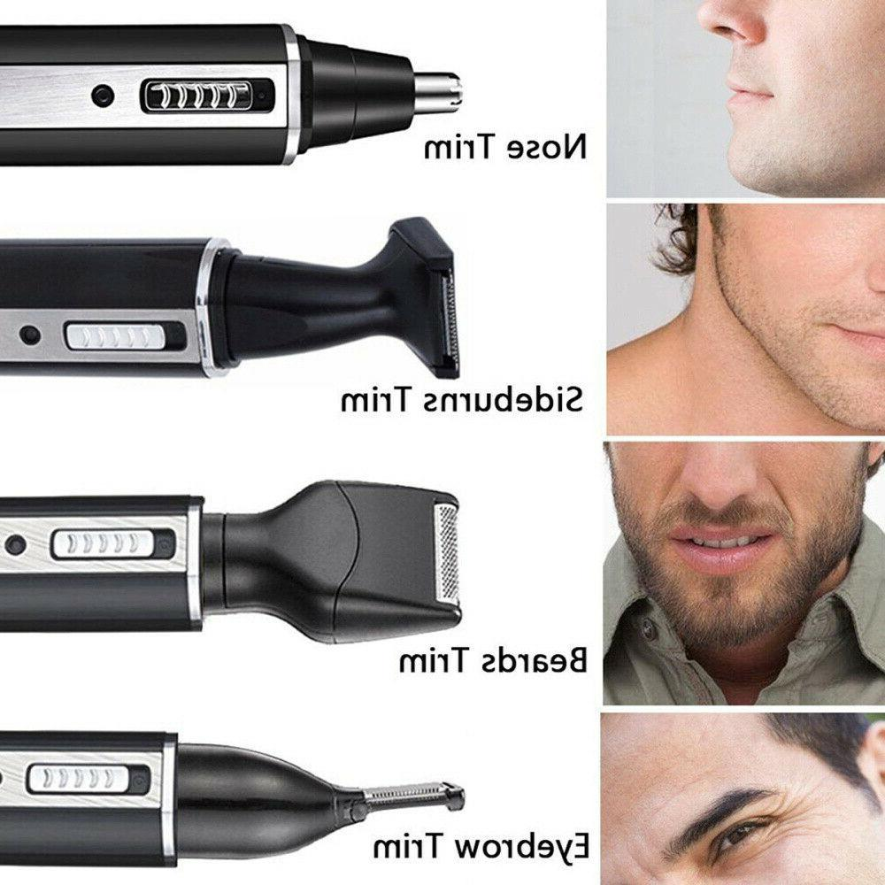 4 in 1 Hair Eyebrow Ear Nose Beard Trimmer Set Rechargeable