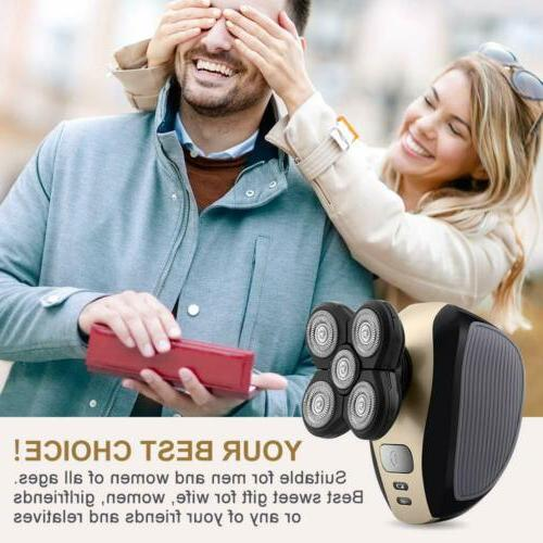 5 1 4D Rotary Shaver Bald Trimmer
