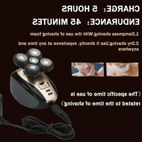 5Head Rechargeable Bald Shaver Cordless Hair Clipper Trimmer