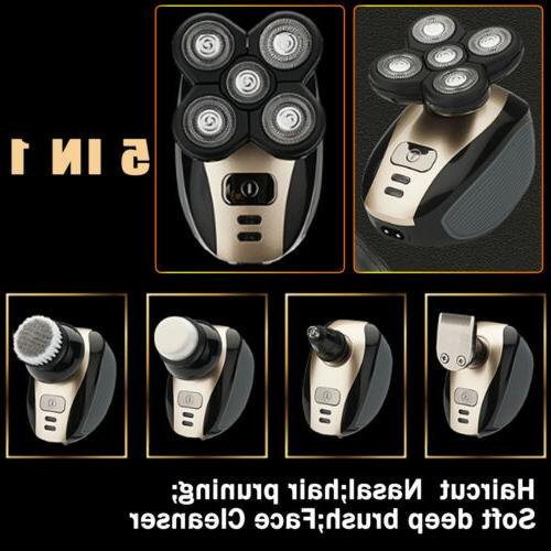 5Head Rechargeable Shaver Hair Clipper Trimmer Razor