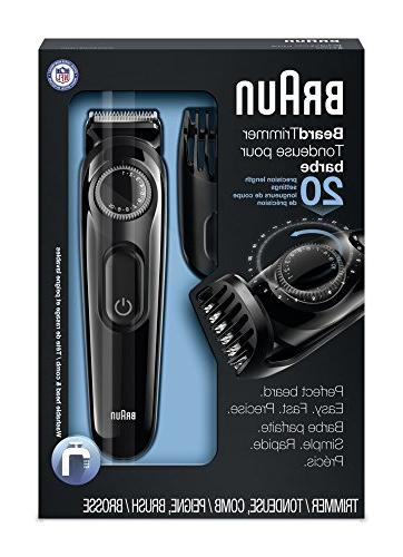 Braun Trimmer, 20 Settings for Precision, Includes Adaptable Comb