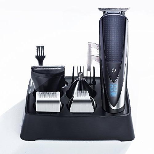 Hatteker Mens Beard Kit Hair Ear Body Grommer Waterproof All-in-One