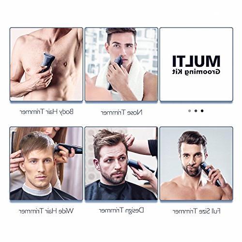 Hatteker Kit Body Mustache Hair Ear Kit Body Grommer Waterproof USB Rechargeable All-in-One