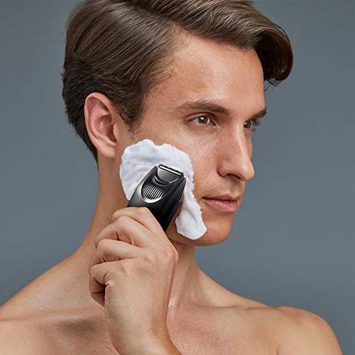 Panasonic Beard Trimmer Men ER-SB40-K, Cordless/Corded Power, Clipper Comb Adjustable Settings, Wet/Dry