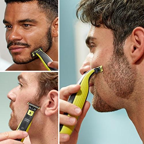 Philips Norelco OneBlade + hybrid electric trimmer shaver,