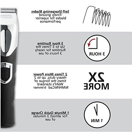 Wahl Trimmer, Kit with Rechargeable Beard Trimmers, Hair and Electric Shavers by Brand Used Professionals #9854-600