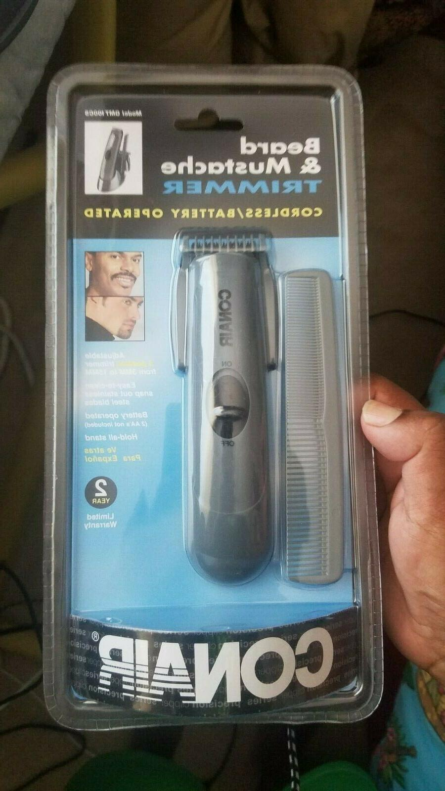 beard an mustache trimmer battery operated comb