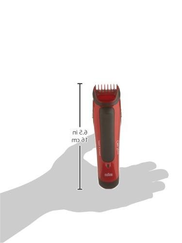 Old Beard Head powered Braun, Red/Black