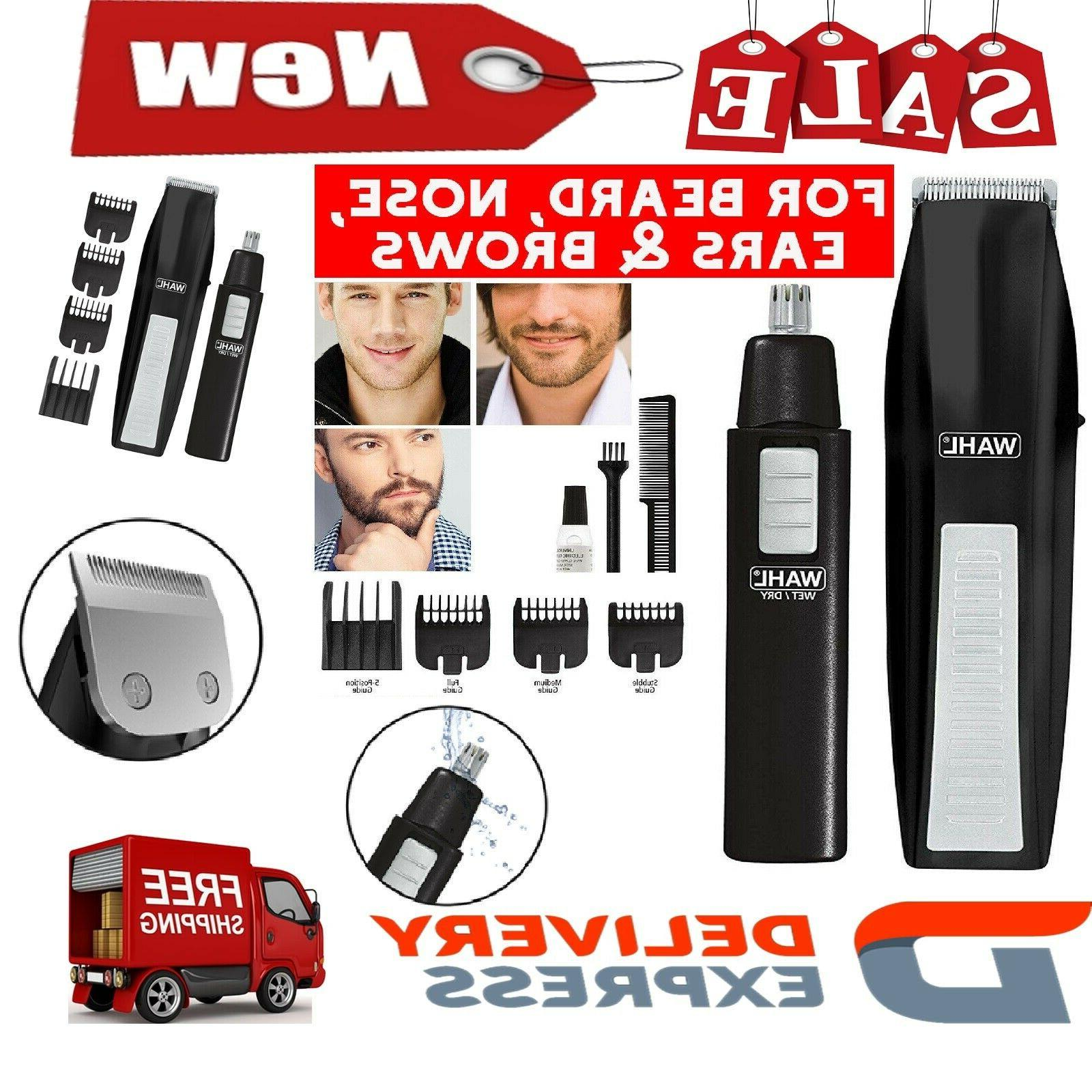 Wahl Beard Mustache Trimmer Man Cordless Nose Hair Clipper &