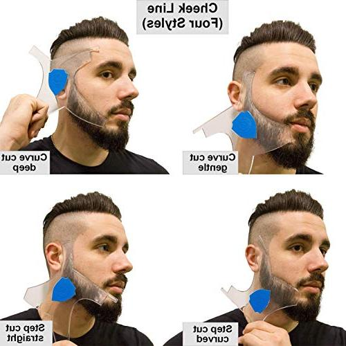 Aberlite Beard w/Barber - Clear Many Styles - Beard/hair Stencil Guide
