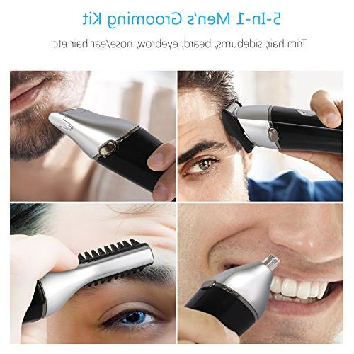 SUPRENT Beard Trimmer Kit, 5 in 1 Multi-functional Body Mustache Trimmer, Trimmer and Waterproof