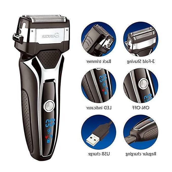 SURKER Trimmer Men's Electric Shavers Electric Travel Shaver US