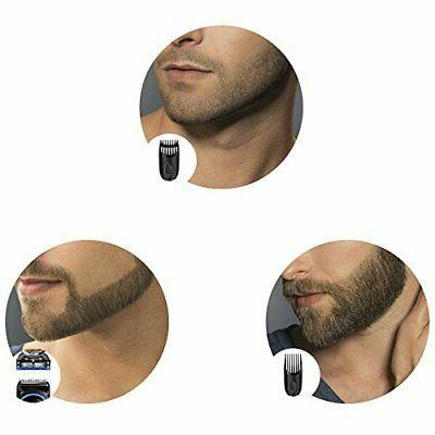 Brown electric beard and adjustme