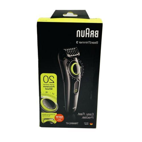 bt3221 beard hair trimmer cordless rechargeable trimmer