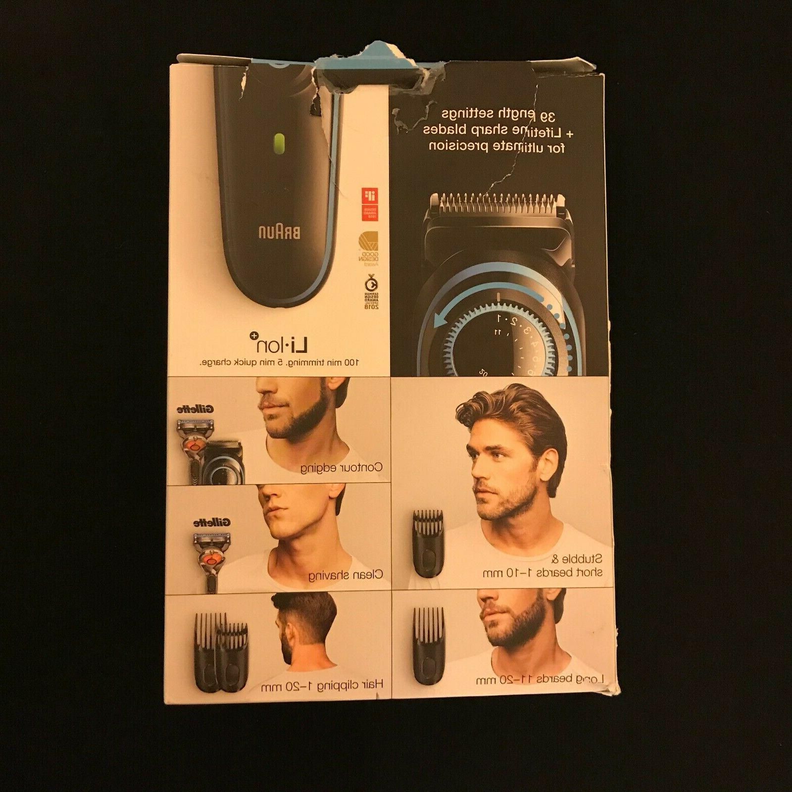 Braun Trimmer Hair Clipper Adjustable Dial and Combs