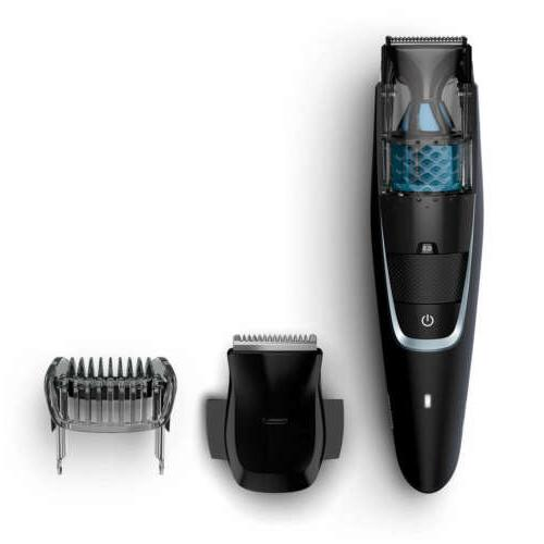 bt7201 rechargeable beard trimmer with vacuum