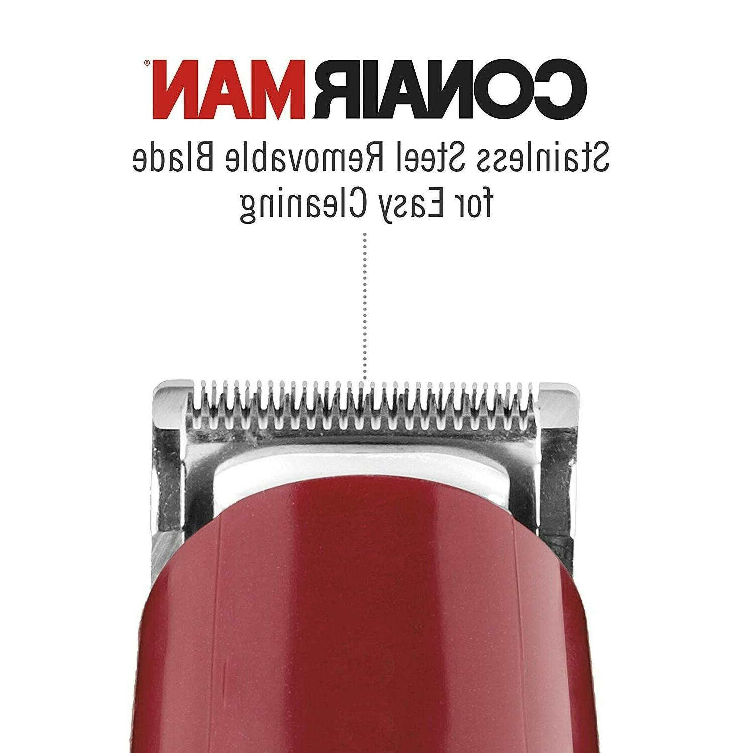 ConairMAN Mustache Trimmer, Includes All-Purpose Combs Corded/Plug-I