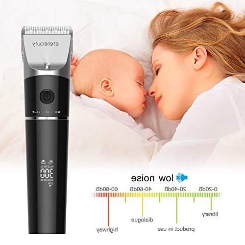 Hair Clippers ETEREAUTY & Trimmer Complete Hair Cutting with Guide Combs, Rechargeable for Stylists