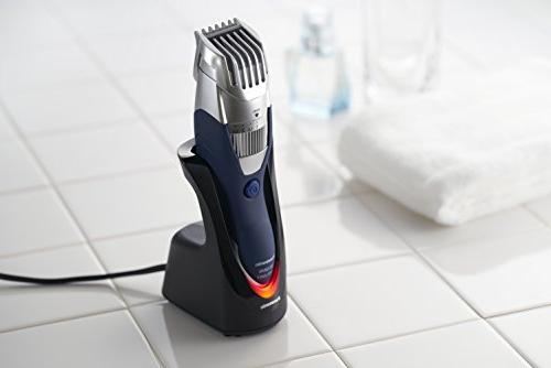 Mustache ER-GB40-S, Wet/Dry Trimmer with 19 Adjustable Trim Washable